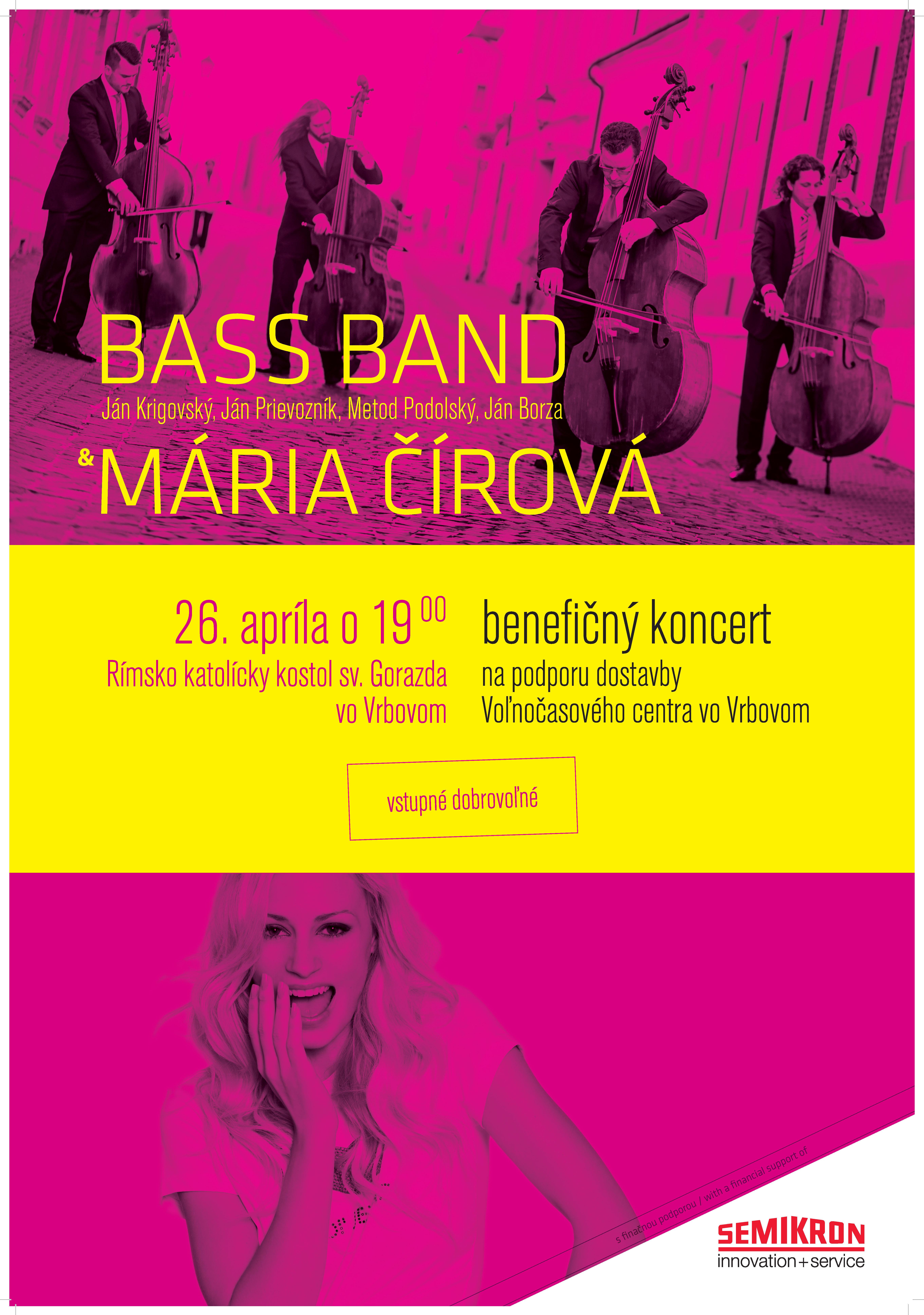 benefičný koncert BassBand & Mária Čírová